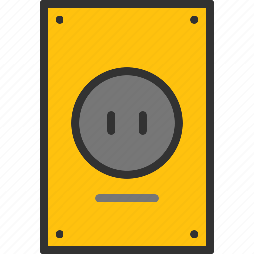 cable, electrical, home, power, socket, wall icon