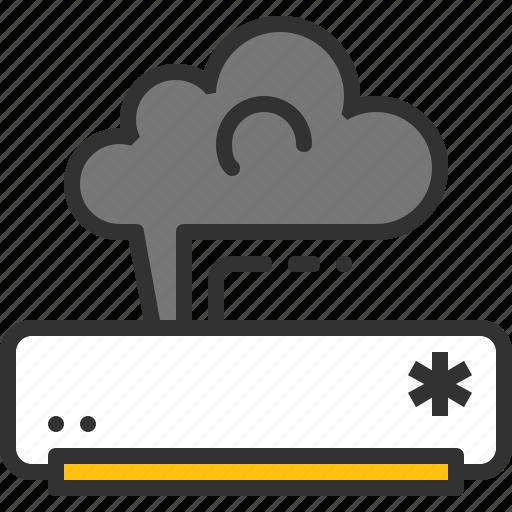 ac, fix, issue, repair, service, smoke icon