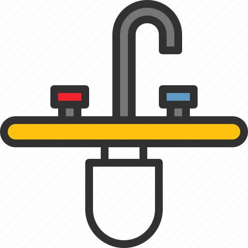 mixer, plumbing, sink, system, tap, water icon