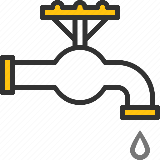 drop, faucet, plumbing, system, tap, water icon