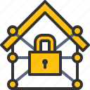 defense, home, lock, security, system icon