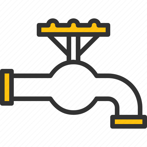 bathroom, faucet, plumbing, tap, valves, water icon