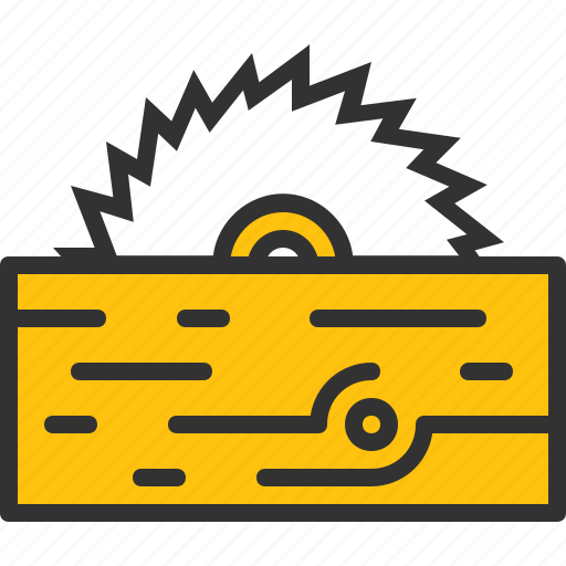 circular, construction, cut, saw, wood, woodwork icon