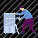 handyworker, repairs, cabinet, furniture, shelves