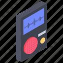 audio recording, sound recorder, voice identification device, voice recognition device, voice recorder icon