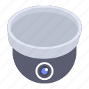 dome camera, ip camera, observatory camera, security camera, surveillance camera icon