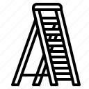 construction, ladder, steps, tool, tools icon