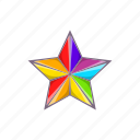 cartoon, colours, gay, lgbt, rainbow, sign, star icon