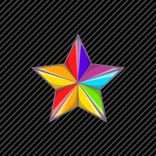 cartoon, colours, gay, lgbt, rainbow, sign, star icon