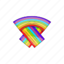 cartoon, flag, gay, lesbian, lgbt, rainbow, sign icon