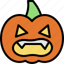 halloween, horror, monster, pumpkin icon