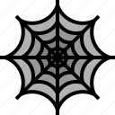 halloween, horror, spider, web icon