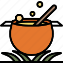 boil, cauldron, halloween, hot, pot icon