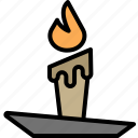 candle, fire, halloween, light icon