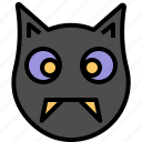 bat, cartoon, cute, halloween, vampire icon