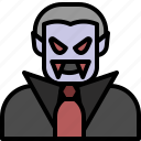 dracula, ghost, halloween, vampire icon