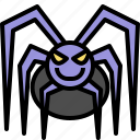 halloween, horror, monster, scary, spider icon