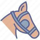 blinkers, equestrian, horse icon