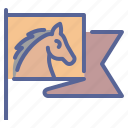 flag, horse riding, race, rodeo