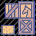 farmsvg, hay, horse, stable icon