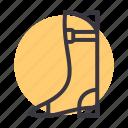 boots, footwear, jackboot, logger icon