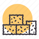 bale, farming, hay, stack icon