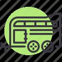 caravan, horse, trailer, travel icon