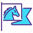 flag, horse riding, race, rodeo icon