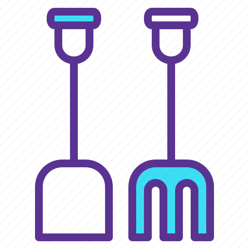 farm, rake, shovel, tools icon