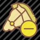 delete, horse, remove, riding