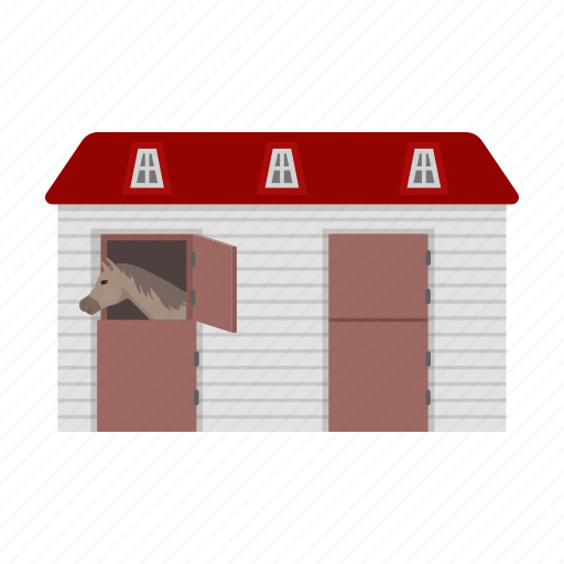 animal, construction, horse, stable, stabling icon