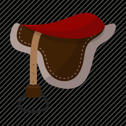 accessory, ammunition, horse, rider, saddle, seat icon