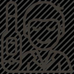 avatar, patient, temperature, thermometer icon