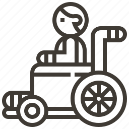 disability, healthcare, patient, wheelchair icon
