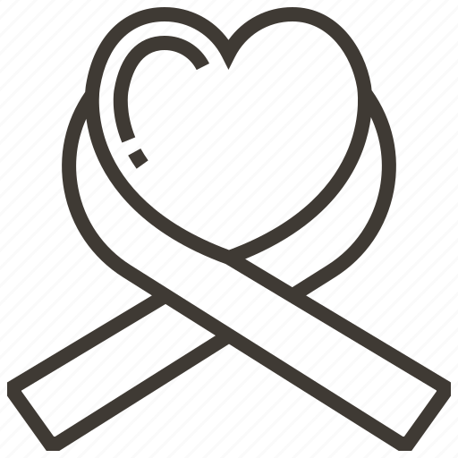 healthcare, heart, medicine, ribbon icon