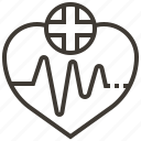 health, heartbeat, heartrate, pulse icon