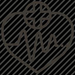 health, heartbeat, heartrate, pulse icon