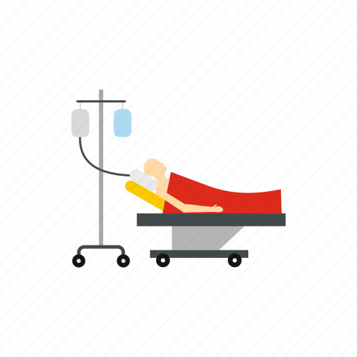 bed, disease, dropper, hospital, medical, patient, stretcher icon