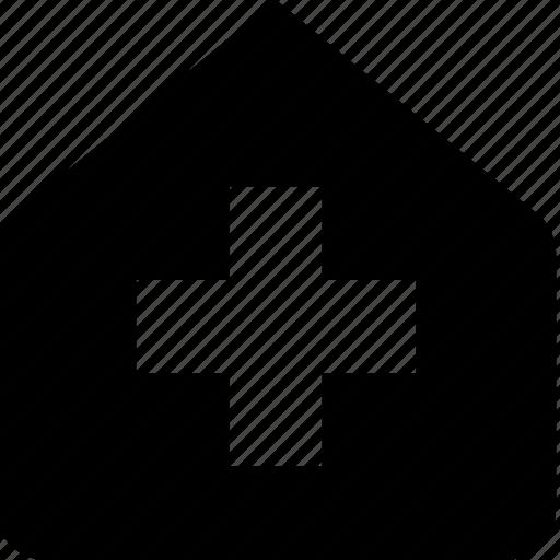 building, health icon