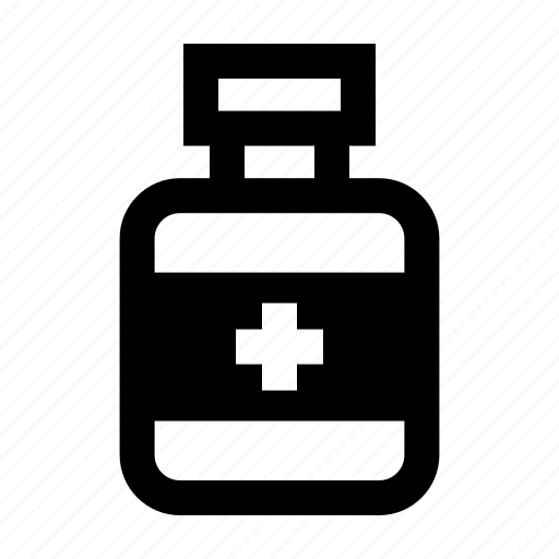 bottle, drug, medicine, recipe icon