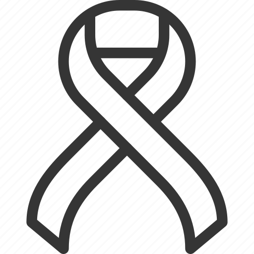 awareness, bow, campaign, cancer, knot, prevention, rope icon