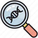 dna, education, genetic engineering, magnifier, physics, science, university