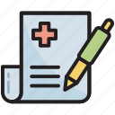 clipboard, edit, medical, report, sheet, record, test report