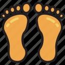 footprint, human, trace, steps, walk, barefoot, feet