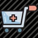 distribution, hospital, medical, medicine, pharmacy, cart, trolley