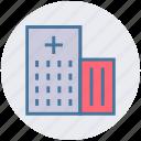 building, clinic, healthcare, hospital, hospital building, medical center icon