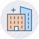 building, clinic, healthcare, hospital, hospital building, medical center icon