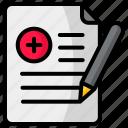hospital, medical, record, file, writing