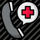 hospital, call, telephone, health, emergency