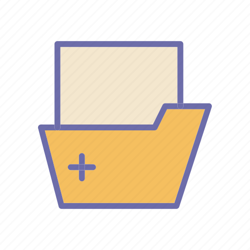 folder, health, hospital, medical icon
